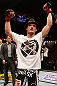 STOCKHOLM, SWEDEN - APRIL 06:  Brad Pickett reacts after defeating Mike Easton in their bantamweight fight at the Ericsson Globe Arena on April 6, 2013 in Stockholm, Sweden.  (Photo by Josh Hedges/Zuffa LLC/Zuffa LLC via Getty Images)