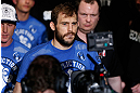 STOCKHOLM, SWEDEN - APRIL 06:  Ryan Couture enters the arena before his lightweight fight against Ross Pearson at the Ericsson Globe Arena on April 6, 2013 in Stockholm, Sweden.  (Photo by Josh Hedges/Zuffa LLC/Zuffa LLC via Getty Images)