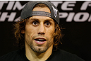 LAS VEGAS, NV - APRIL 11: Urijah Faber interacts with media at the UFC Training Center on April 11, 2013 in Las Vegas, Nevada. (Photo by Josh Hedges/Zuffa LLC/Zuffa LLC via Getty Images)
