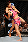LAS VEGAS, NV - APRIL 13:   Cat Zingano (left) attempts to submit Miesha Tate in their bantamweight fight at the Mandalay Bay Events Center  on April 13, 2013 in Las Vegas, Nevada.  (Photo by Josh Hedges/Zuffa LLC/Zuffa LLC via Getty Images)  *** Local Caption *** Miesha Tate; Cat Zingano