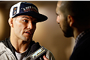 SAN JOSE, CA - APRIL 18:  Josh Thomson conducts interviews during media day ahead of the UFC on FOX event at HP Pavilion on April 18, 2013 in San Jose, California.  (Photo by Josh Hedges/Zuffa LLC/Zuffa LLC via Getty Images)