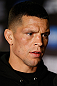 SAN JOSE, CA - APRIL 18:   Nate Diaz conducts interviews during media day ahead of the UFC on FOX event at HP Pavilion on April 18, 2013 in San Jose, California.  (Photo by Josh Hedges/Zuffa LLC/Zuffa LLC via Getty Images)