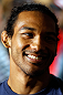 SAN JOSE, CA - APRIL 18:  Benson Henderson conducts interviews during media day ahead of the UFC on FOX event at HP Pavilion on April 18, 2013 in San Jose, California.  (Photo by Josh Hedges/Zuffa LLC/Zuffa LLC via Getty Images)