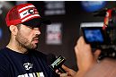 SAN JOSE, CA - APRIL 18:  Matt Brown conducts interviews during media day ahead of the UFC on FOX event at HP Pavilion on April 18, 2013 in San Jose, California.  (Photo by Josh Hedges/Zuffa LLC/Zuffa LLC via Getty Images)