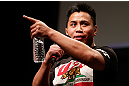 SAN JOSE, CA - APRIL 19:  Cung Le interacts with fans during a Q&amp;A session before the UFC on FOX weigh-in at the California Theatre on April 19, 2013 in San Jose, California.  (Photo by Josh Hedges/Zuffa LLC/Zuffa LLC via Getty Images)