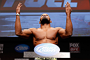 SAN JOSE, CA - APRIL 19:  Yoel Romero weighs in during the UFC on FOX weigh-in at the California Theatre on April 19, 2013 in San Jose, California.  (Photo by Josh Hedges/Zuffa LLC/Zuffa LLC via Getty Images)