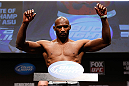 SAN JOSE, CA - APRIL 19:  Clifford Starks weighs in  during the UFC on FOX weigh-in at the California Theatre on April 19, 2013 in San Jose, California.  (Photo by Josh Hedges/Zuffa LLC/Zuffa LLC via Getty Images)