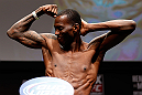 SAN JOSE, CA - APRIL 19:   Anthony Njokuani weighs in during the UFC on FOX weigh-in at the California Theatre on April 19, 2013 in San Jose, California.  (Photo by Josh Hedges/Zuffa LLC/Zuffa LLC via Getty Images)