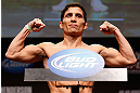 SAN JOSE, CA - APRIL 19:  Joseph Benavidez weighs in during the UFC on FOX weigh-in at the California Theatre on April 19, 2013 in San Jose, California.  (Photo by Josh Hedges/Zuffa LLC/Zuffa LLC via Getty Images)