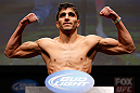 SAN JOSE, CA - APRIL 19:   Ramsey Nijem weighs in during the UFC on FOX weigh-in at the California Theatre on April 19, 2013 in San Jose, California.  (Photo by Josh Hedges/Zuffa LLC/Zuffa LLC via Getty Images)