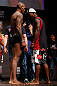 SAN JOSE, CA - APRIL 19:   (L-R) Opponents Francis Carmont and Lorenz Larkin face off during the UFC on FOX weigh-in at the California Theatre on April 19, 2013 in San Jose, California.  (Photo by Josh Hedges/Zuffa LLC/Zuffa LLC via Getty Images)