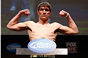 SAN JOSE, CA - APRIL 19:   Darren Elkins weighs in during the UFC on FOX weigh-in at the California Theatre on April 19, 2013 in San Jose, California.  (Photo by Josh Hedges/Zuffa LLC/Zuffa LLC via Getty Images)