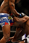 SAN JOSE, CA - APRIL 20:   (L-R) Yoel Romero knees Clifford Starks in their middleweight bout during the UFC on FOX event during the UFC on FOX event at the HP Pavilion on April 20, 2013 in San Jose, California.  (Photo by Josh Hedges/Zuffa LLC/Zuffa LLC via Getty Images)  *** Local Caption *** Clifford Starks; Yoel Romero
