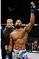 SAN JOSE, CA - APRIL 20:   Yoel Romero reacts to his victory over Clifford Starks in their middleweight bout during the UFC on FOX event at the HP Pavilion on April 20, 2013 in San Jose, California.  (Photo by Ezra Shaw/Zuffa LLC/Zuffa LLC via Getty Images)  *** Local Caption *** Clifford Starks; Yoel Romero