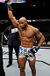 SAN JOSE, CA - APRIL 20:   Yoel Romero is declared the winner over Clifford Starks in their middleweight bout during the UFC on FOX event at the HP Pavilion on April 20, 2013 in San Jose, California.  (Photo by Ezra Shaw/Zuffa LLC/Zuffa LLC via Getty Images)  *** Local Caption *** Clifford Starks; Yoel Romero
