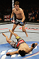 SAN JOSE, CA - APRIL 20:   Myles Jury (top) moves in to finish Ramsey Nijem in their lightweight bout during the UFC on FOX event at the HP Pavilion on April 20, 2013 in San Jose, California.  (Photo by Ezra Shaw/Zuffa LLC/Zuffa LLC via Getty Images)  *** Local Caption *** Ramsey Nijem; Myles Jury