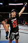 SAN JOSE, CA - APRIL 20:   Myles Jury reacts to his victory over Ramsey Nijem in their lightweight bout during the UFC on FOX event at the HP Pavilion on April 20, 2013 in San Jose, California.  (Photo by Ezra Shaw/Zuffa LLC/Zuffa LLC via Getty Images)  *** Local Caption *** Ramsey Nijem; Myles Jury