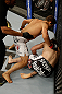 SAN JOSE, CA - APRIL 20:   Chad Mendes (left) punches Darren Elkins in their featherweight bout during the UFC on FOX event at the HP Pavilion on April 20, 2013 in San Jose, California.  (Photo by Ezra Shaw/Zuffa LLC/Zuffa LLC via Getty Images)  *** Local Caption *** Chad Mendes; Darren Elkins