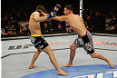 SAN JOSE, CA - APRIL 20:   (R-L) Nate Diaz punches Josh Thomson in their lightweight bout during the UFC on FOX event at the HP Pavilion on April 20, 2013 in San Jose, California.  (Photo by Ezra Shaw/Zuffa LLC/Zuffa LLC via Getty Images)  *** Local Caption *** Nate Diaz; Josh Thomson
