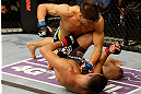 SAN JOSE, CA - APRIL 20:   Josh Thomson (top) punches Nate Diaz in their lightweight bout during the UFC on FOX event at the HP Pavilion on April 20, 2013 in San Jose, California.  (Photo by Ezra Shaw/Zuffa LLC/Zuffa LLC via Getty Images)  *** Local Caption *** Nate Diaz; Josh Thomson