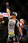 SAN JOSE, CA - APRIL 20:   Josh Thomson is declared the winner over Nate Diaz in their lightweight bout during the UFC on FOX event during the UFC on FOX event at the HP Pavilion on April 20, 2013 in San Jose, California.  (Photo by Josh Hedges/Zuffa LLC/Zuffa LLC via Getty Images)  *** Local Caption *** Nate Diaz; Josh Thomson