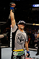 SAN JOSE, CA - APRIL 20:   Josh Thomson reacts to his victory over Nate Diaz in their lightweight bout during the UFC on FOX event at the HP Pavilion on April 20, 2013 in San Jose, California.  (Photo by Ezra Shaw/Zuffa LLC/Zuffa LLC via Getty Images)  *** Local Caption *** Nate Diaz; Josh Thomson