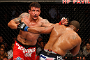 SAN JOSE, CA - APRIL 20:   (L-R) Frank Mir punches Daniel Cormier in their heavyweight bout during the UFC on FOX event during the UFC on FOX event at the HP Pavilion on April 20, 2013 in San Jose, California.  (Photo by Josh Hedges/Zuffa LLC/Zuffa LLC via Getty Images)  *** Local Caption *** Frank Mir; Daniel Cormier