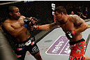 SAN JOSE, CA - APRIL 20:   (R-L) Frank Mir punches Daniel Cormier in their heavyweight bout during the UFC on FOX event at the HP Pavilion on April 20, 2013 in San Jose, California.  (Photo by Ezra Shaw/Zuffa LLC/Zuffa LLC via Getty Images)  *** Local Caption *** Frank Mir; Daniel Cormier