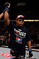 SAN JOSE, CA - APRIL 20:   Daniel Cormier is declared the winner in his fight against Frank Mir in their heavyweight bout during the UFC on FOX event at the HP Pavilion on April 20, 2013 in San Jose, California.  (Photo by Ezra Shaw/Zuffa LLC/Zuffa LLC via Getty Images)  *** Local Caption *** Frank Mir; Daniel Cormier