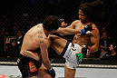 SAN JOSE, CA - APRIL 20:   (R-L) Benson Henderson kicks Gilbert Melendez in their lightweight championship bout during the UFC on FOX event at the HP Pavilion on April 20, 2013 in San Jose, California.  (Photo by Ezra Shaw/Zuffa LLC/Zuffa LLC via Getty Images)  *** Local Caption *** Benson Henderson; Gilbert Melendez