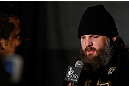 NEW YORK, NY - APRIL 25:   Roy Nelson interacts with media during UFC 159 media day at The Theater at Madison Square Garden on April 25, 2013 in New York City.  (Photo by Josh Hedges/Zuffa LLC/Zuffa LLC via Getty Images)