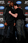NEW YORK, NY - APRIL 25:   (L-R) Opponents UFC Light Heavyweight Champion Jon &quot;Bones&quot; Jones and Chael Sonnen face off during UFC 159 media day at The Theater at Madison Square Garden on April 25, 2013 in New York City.  (Photo by Josh Hedges/Zuffa LLC/Zuffa LLC via Getty Images)
