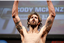 NEWARK, NJ - APRIL 26:   Cody McKenzie weighs in during the UFC 159 weigh-in event at the Prudential Center on April 26, 2013 in Newark, New Jersey.  (Photo by Josh Hedges/Zuffa LLC/Zuffa LLC via Getty Images)
