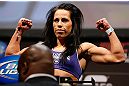 NEWARK, NJ - APRIL 26:   Sheila Gaff weighs in during the UFC 159 weigh-in event at the Prudential Center on April 26, 2013 in Newark, New Jersey.  (Photo by Josh Hedges/Zuffa LLC/Zuffa LLC via Getty Images)