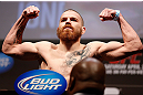 NEWARK, NJ - APRIL 26:   Jim Miller weighs in during the UFC 159 weigh-in event at the Prudential Center on April 26, 2013 in Newark, New Jersey.  (Photo by Josh Hedges/Zuffa LLC/Zuffa LLC via Getty Images)