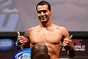 NEWARK, NJ - APRIL 26:   Vinny Magalhaes weighs in during the UFC 159 weigh-in event at the Prudential Center on April 26, 2013 in Newark, New Jersey.  (Photo by Josh Hedges/Zuffa LLC/Zuffa LLC via Getty Images)