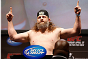 NEWARK, NJ - APRIL 26:   Roy Nelson weighs in during the UFC 159 weigh-in event at the Prudential Center on April 26, 2013 in Newark, New Jersey.  (Photo by Josh Hedges/Zuffa LLC/Zuffa LLC via Getty Images)