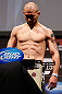 NEWARK, NJ - APRIL 26:   Alan Belcher weighs in during the UFC 159 weigh-in event at the Prudential Center on April 26, 2013 in Newark, New Jersey.  (Photo by Josh Hedges/Zuffa LLC/Zuffa LLC via Getty Images)