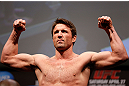 NEWARK, NJ - APRIL 26:   Chael Sonnen weighs in during the UFC 159 weigh-in event at the Prudential Center on April 26, 2013 in Newark, New Jersey.  (Photo by Josh Hedges/Zuffa LLC/Zuffa LLC via Getty Images)