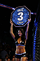 NEWARK, NJ - APRIL 27:  Octagon girl Arianny Celeste is seen during the featherweight bout between Steven Siler and Kurt Holobaugh during the UFC 159 event at the Prudential Center on April 27, 2013 in Newark, New Jersey.  (Photo by Al Bello/Zuffa LLC/Zuffa LLC Via Getty Images)