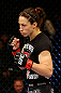 NEWARK, NJ - APRIL 27:  Sara McMann walks to the center of the octagon to fight against Sheila Gaff in their women's bantamweight bout during the UFC 159 event at the Prudential Center on April 27, 2013 in Newark, New Jersey.  (Photo by Al Bello/Zuffa LLC/Zuffa LLC Via Getty Images)
