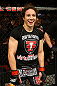 NEWARK, NJ - APRIL 27:  Sara McMann celebrates defeating Sheila Gaff by KO/TKO in round one of their women's bantamweight bout during the UFC 159 event at the Prudential Center on April 27, 2013 in Newark, New Jersey.  (Photo by Al Bello/Zuffa LLC/Zuffa LLC Via Getty Images)