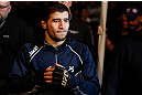 NEWARK, NJ - APRIL 27:   Rustam Khabilov enters the arena before his lightweight fight against Yancy Medeiros during the UFC 159 event at the Prudential Center on April 27, 2013 in Newark, New Jersey.  (Photo by Josh Hedges/Zuffa LLC/Zuffa LLC via Getty Images)