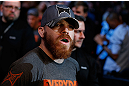 NEWARK, NJ - APRIL 27:   Jim Miller enters the arena before his lightweight fight against Pat Healy during the UFC 159 event at the Prudential Center on April 27, 2013 in Newark, New Jersey.  (Photo by Josh Hedges/Zuffa LLC/Zuffa LLC via Getty Images)