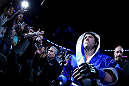 NEWARK, NJ - APRIL 27:  Chael Sonnen walks to octagon before facing Jon Jones in their light heavyweight championship bout during the UFC 159 event at the Prudential Center on April 27, 2013 in Newark, New Jersey.  (Photo by Al Bello/Zuffa LLC/Zuffa LLC Via Getty Images)