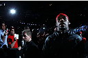 NEWARK, NJ - APRIL 27:  Jon Jones walks to the octagon before facing Chael Sonnen in their light heavyweight championship bout during the UFC 159 event at the Prudential Center on April 27, 2013 in Newark, New Jersey.  (Photo by Al Bello/Zuffa LLC/Zuffa LLC Via Getty Images)