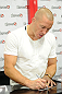 LAS VEGAS, NV - JULY 6:   Georges St-Pierre signs an autograph during the UFC Fan Expo at the Mandalay Bay Convention Center on July 6, 2012 in Las Vegas, Nevada.  (Photo by Al Powers/Zuffa LLC/Zuffa LLC via Getty Images)