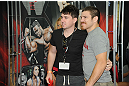 LAS VEGAS, NV - JULY 7:   Jim Miller poses with a fan during the UFC Fan Expo at the Mandalay Bay Convention Center on July 7, 2012 in Las Vegas, Nevada.  (Photo by Al Powers/Zuffa LLC/Zuffa LLC via Getty Images)  *** Local Caption ***
