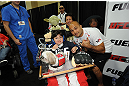 LAS VEGAS, NV - JULY 06:  BJ Penn poses with fans at the UFC Fan Expo on July 6, 2012 in Las Vegas, Nevada. (Photo by Al Powers /Zuffa LLC/Zuffa LLC via Getty Images) *** Local Caption *** BJ Penn