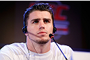 JARAGUA DO SUL, BRAZIL - MAY 16:   Chris Camozzi interacts with media during media day for the UFC on FX event on May 16, 2013 at the Sociedade Cultura Artistica in Jaragua do Sul, Santa Catarina, Brazil.  (Photo by Josh Hedges/Zuffa LLC/Zuffa LLC via Getty Images)